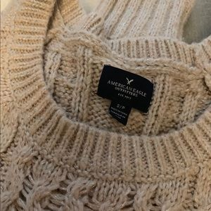 Rose Gold American Eagle Chunky Sweater